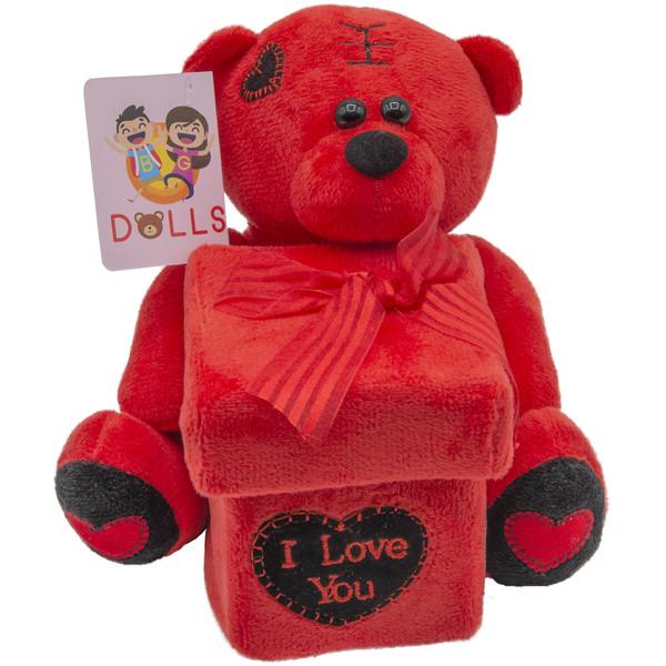 عروسک بی جی دالز طرح خرس I LOVE YOU کد BT11471 ارتفاع 15 سانتی متر