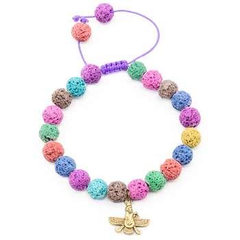 دستبند زنانه بهارگالری طرح فروهر کد 206114