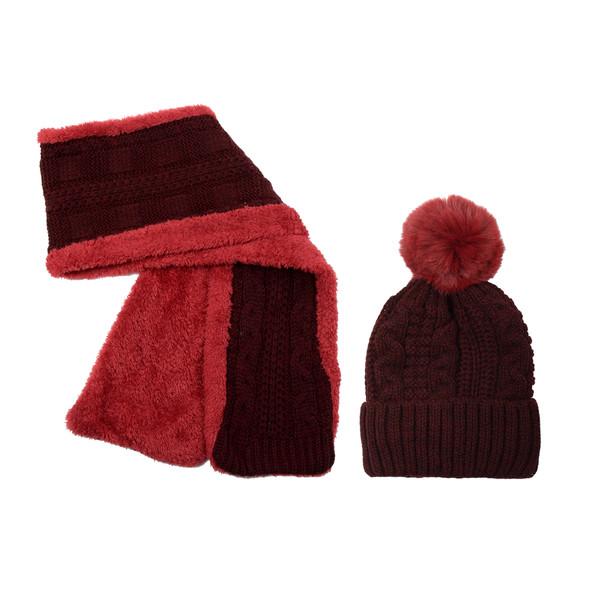 ست کلاه و شال گردن بچگانه مدل 20528