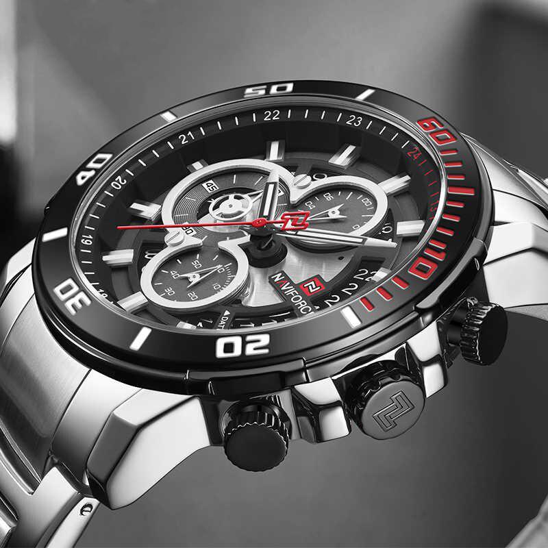 کد تخفیف                                      ساعت مچی عقربه ای مردانه نیوی فورس مدل NF9174M -S-B