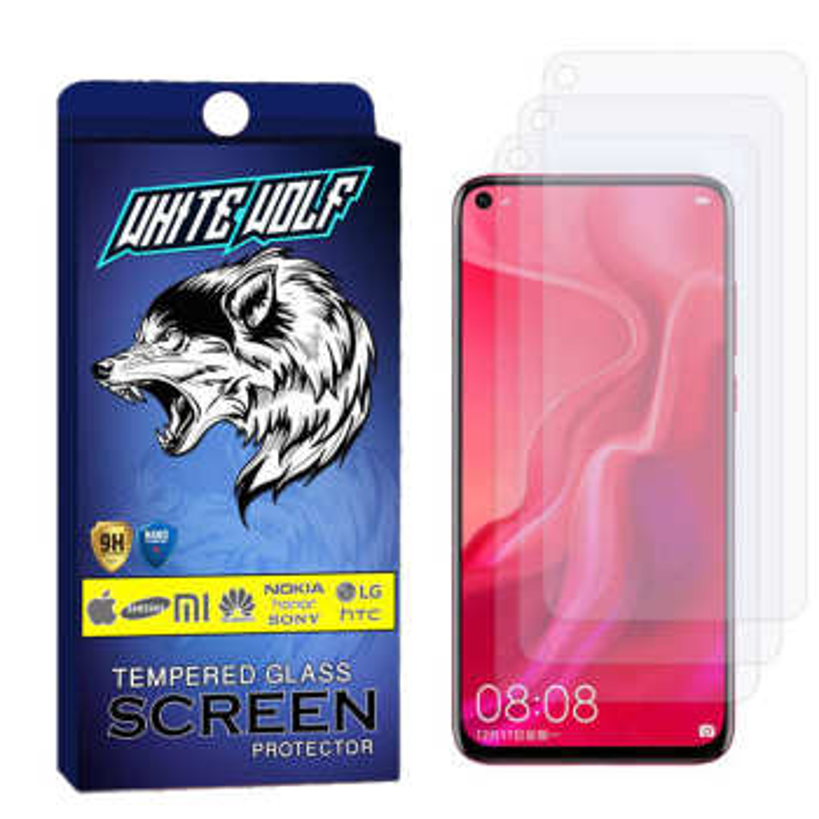 محافظ صفحه نمایش وایت ولف مدل WGS مناسب برای گوشی موبایل هوآوی nova 4 بسته3 عددی