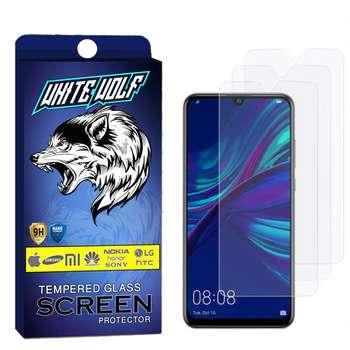 محافظ صفحه نمایش وایت ولف مدل WGS مناسب برای گوشی موبایل هوآوی P Smart 2019 بسته3 عددی