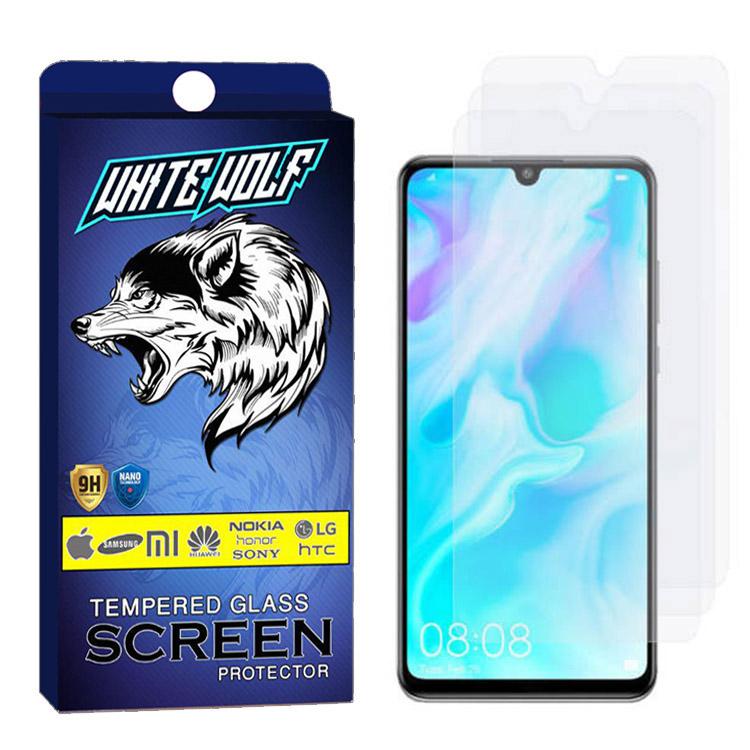 محافظ صفحه نمایش وایت ولف مدل WGS مناسب برای گوشی موبایل هوآوی P30 lite بسته3 عددی