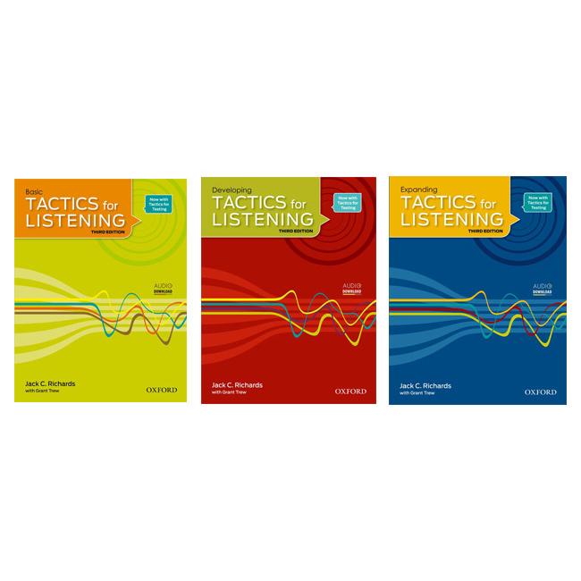 خرید                      کتاب Tactics for listening اثر Jack C.Richards and Grant Trew انتشارات آکسفورد 3 جلدی