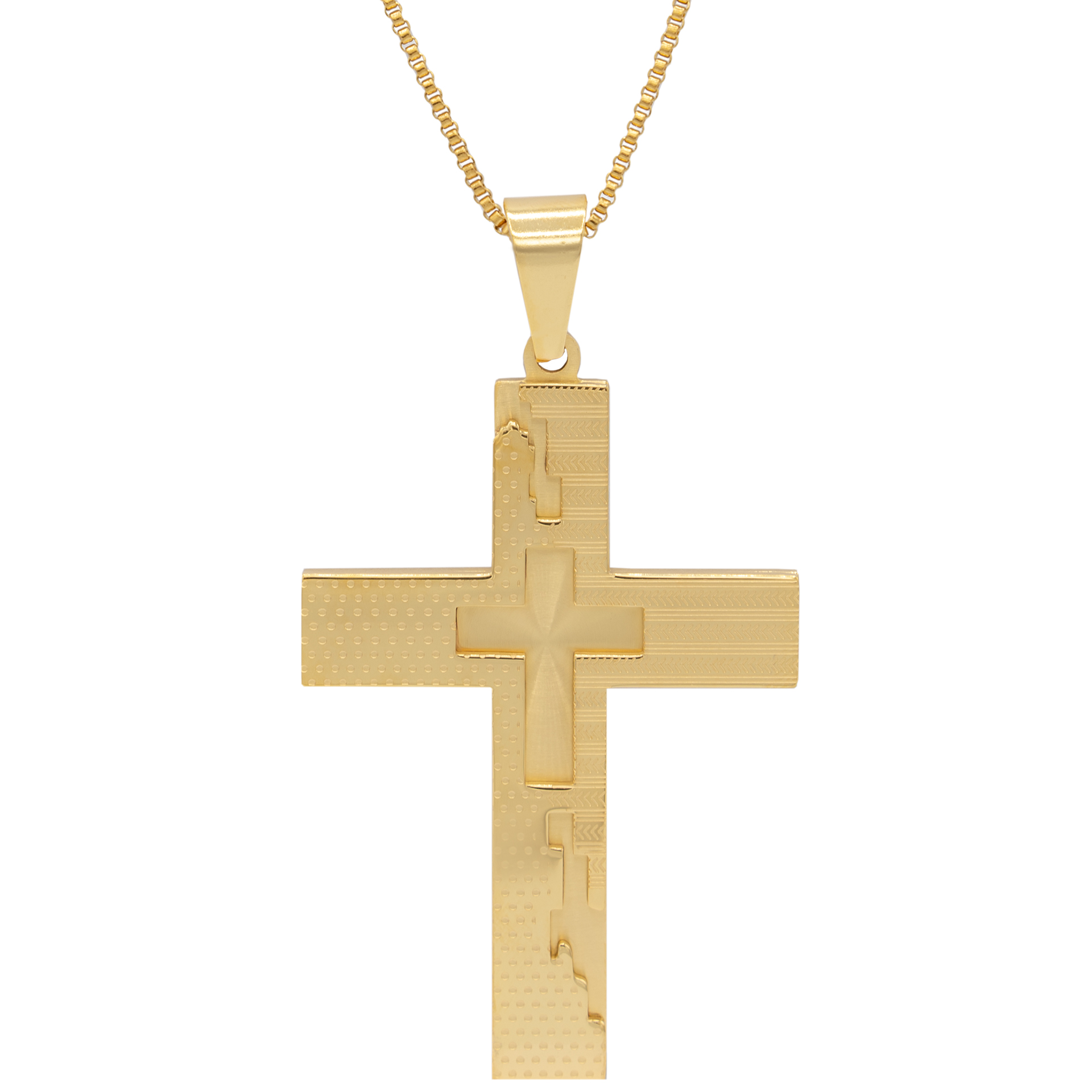 گردنبند بهارگالری طرح صلیب کد 202051
