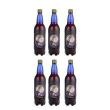 نوشیدنی انگور قرمز گازدار پاکبان - 1 لیتر بسته 6 عددی