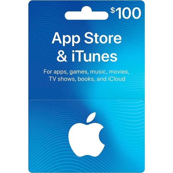 گیفت کارت ۱۰۰ دلاری آیتونز و اپل استور آمریکا مدل ITU0100