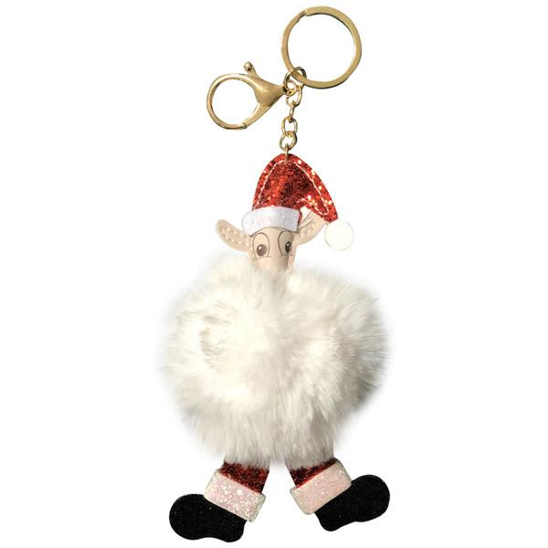 آویز عروسکی کودک طرح گوسفند مدل بابانوئل کد 70