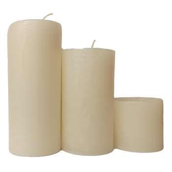 شمع طرح استوانه کد 26 مجموعه 3 عددی