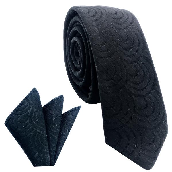 ست کراوات و دستمال جیب مردانه هکس ایران مدل KT-BK 23