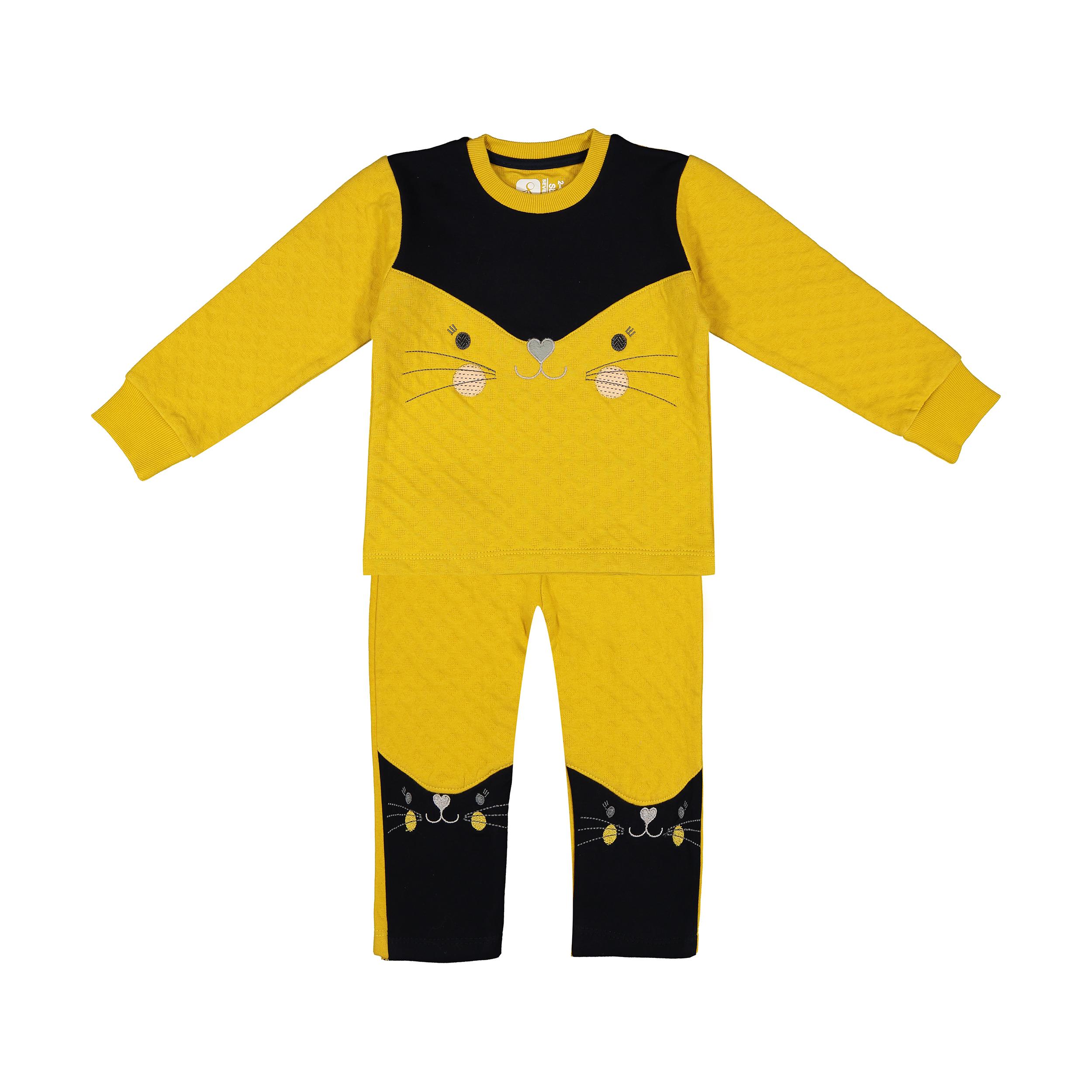 ست تی شرت و شلوار دخترانه سون پون مدل 1391229-16