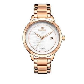ساعت مچی عقربه ای زنانه نیوی فورس مدل NF5008-RGW