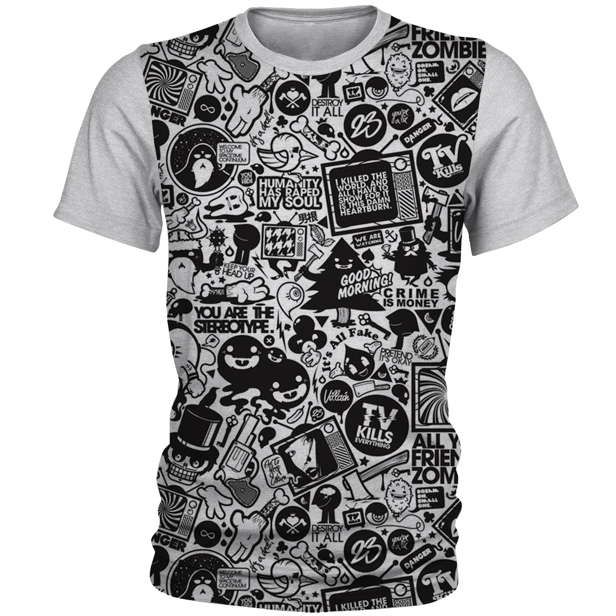 تی شرت آستین کوتاه مردانه کد AL16