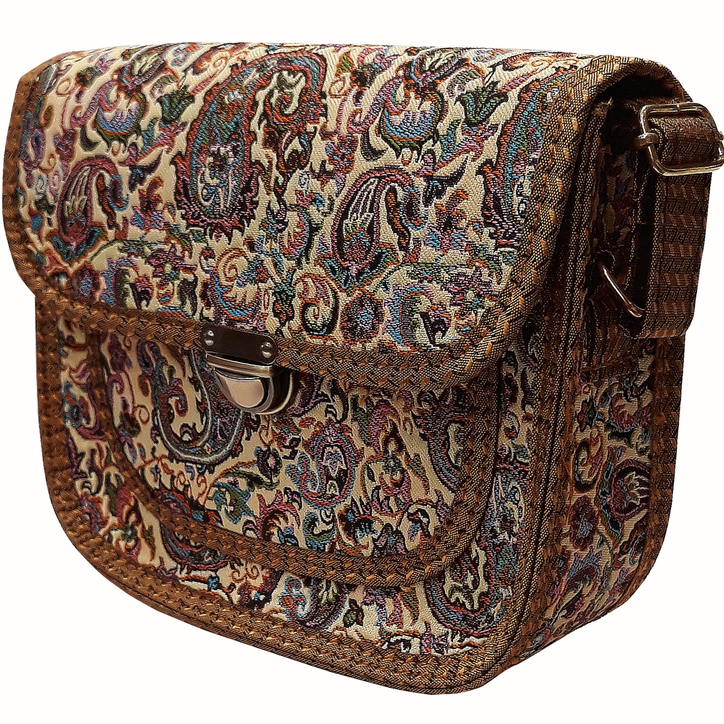 خرید                      کیف دوشی ترمه مدل 121