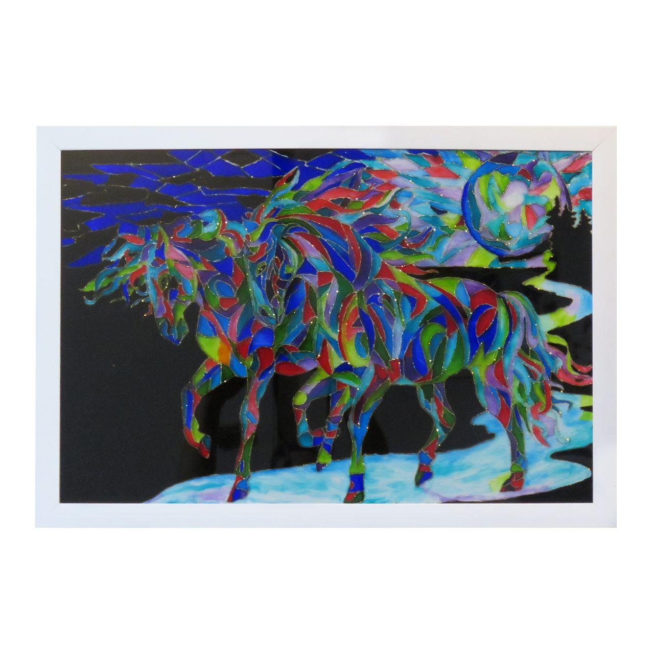 تابلو ویترای طرح اسب کد 003