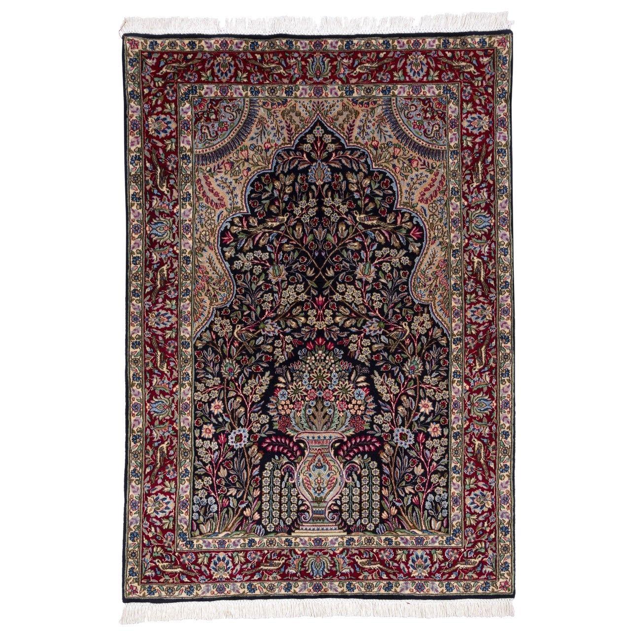 فرش دستباف قدیمی ذرع و نیم سی پرشیا کد 174319