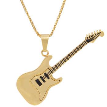 گردنبند بهارگالری طرح گیتار الکتریک کد 208130