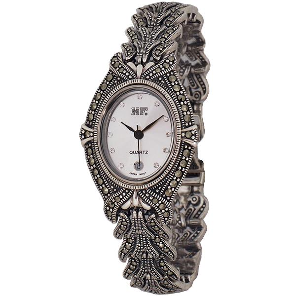 ساعت مچی عقربه ای نقره زنانه اچ اف مدل HW0104