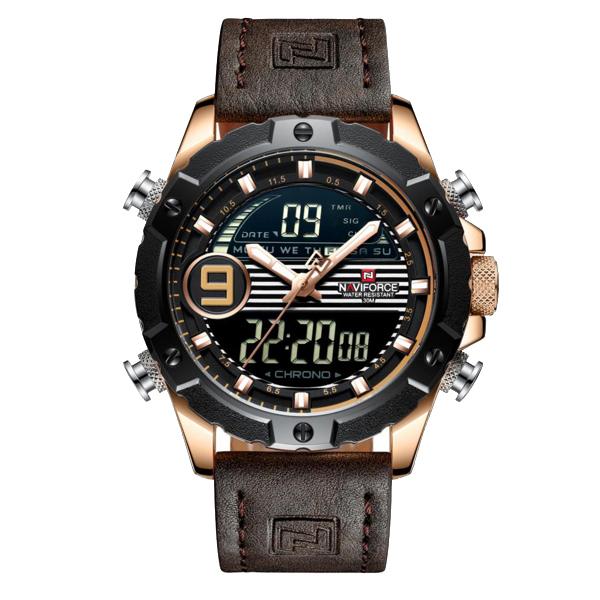 کد تخفیف                                      ساعت مچی عقربه ای مردانه نیوی فورس مدل NF9146M -RG-RG-D.BN