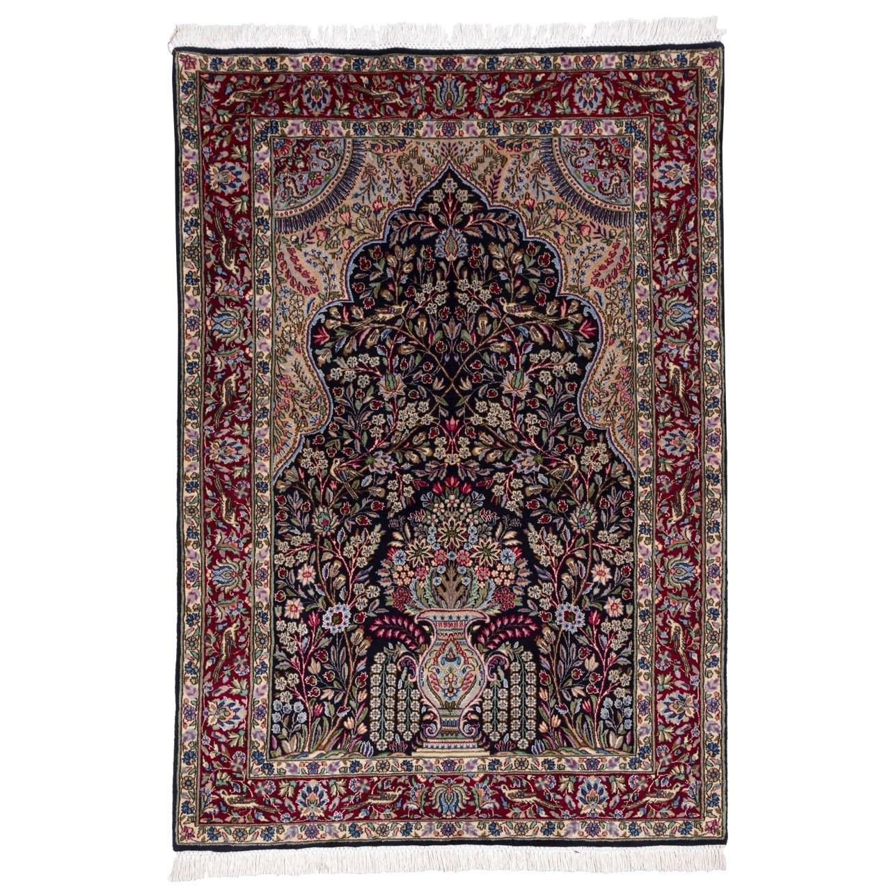 فرش دستباف قدیمی ذرع و نیم سی پرشیا کد 174318