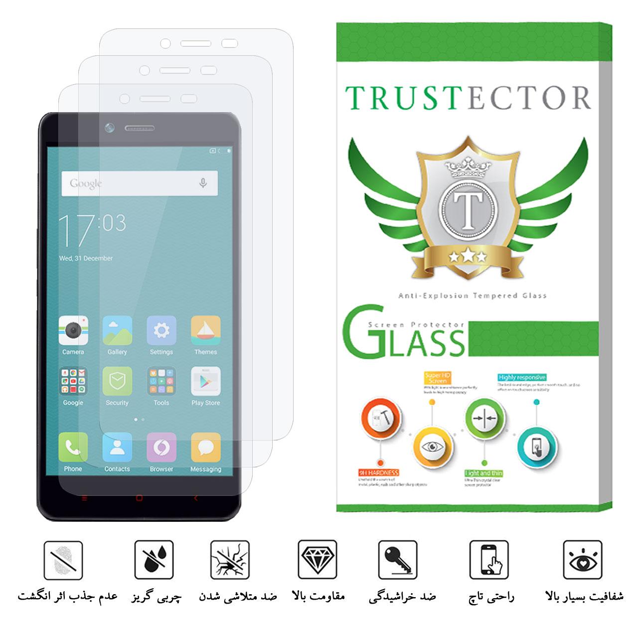 محافظ صفحه نمایش تراستکتور مدل GLS مناسب برای گوشی موبایل شیائومی Redmi Note 2 / Redmi Note 2 Prime بسته 3 عددی main 1 2