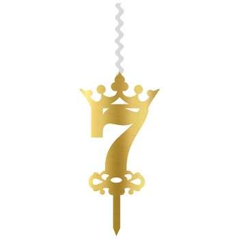 شمع تولد طرح عدد 7 کد CH7