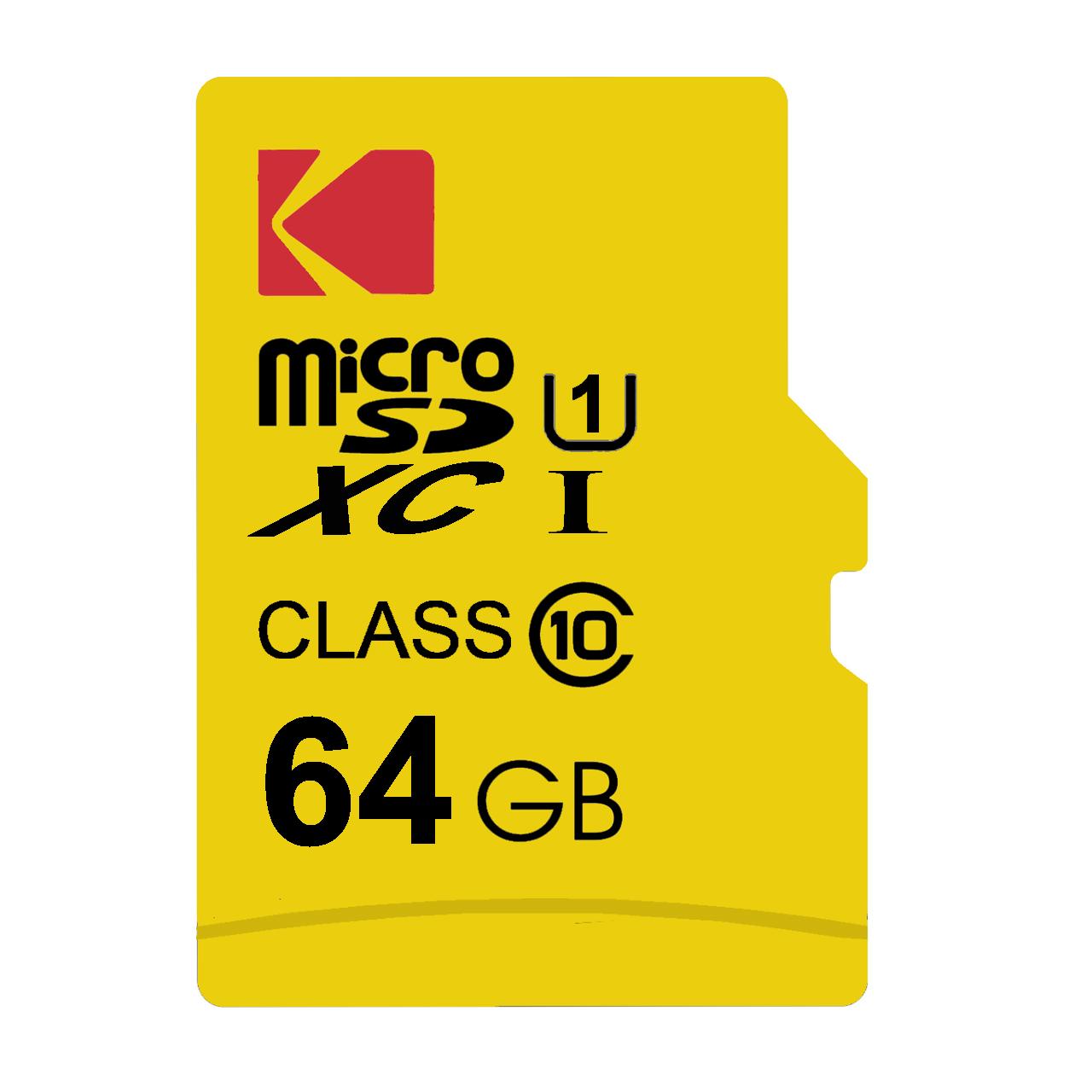 کارت حافظه microSDXC کداک مدل Premium Performance کلاس 10 استاندارد UHS-I U1 سرعت 85MBps ظرفیت 64 گیگابایت