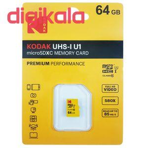 کارت حافظه microSDXC کداک مدل Premium Performance کلاس 10 استاندارد UHS-I U1 سرعت 85MBps ظرفیت 64