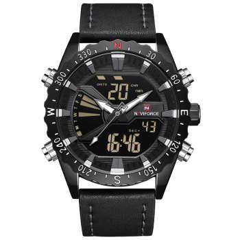 ساعت مچی عقربهای مردانه نیوی فورس مدل NF9136M -B-GY-B