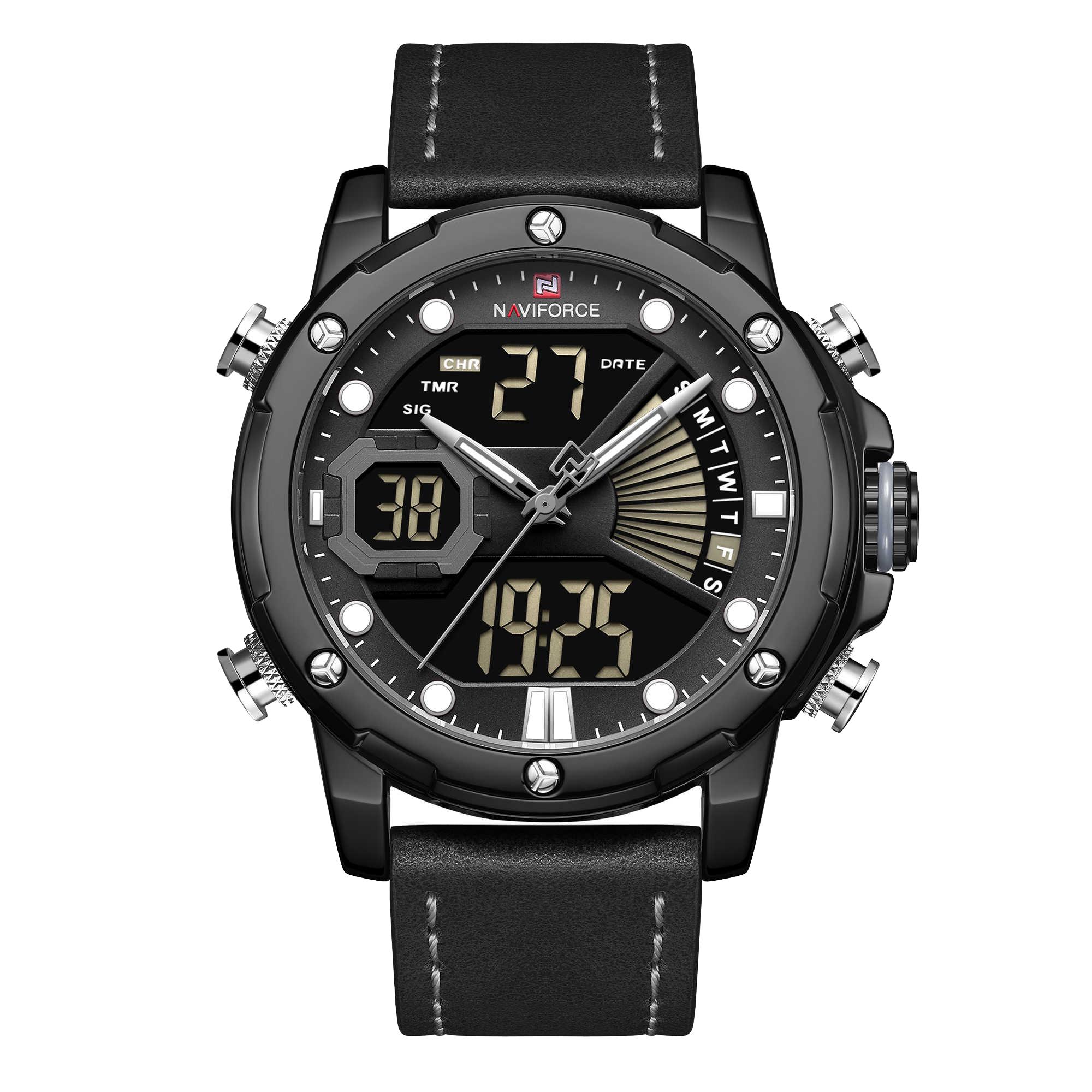 ساعت مچی عقربهای مردانه نیوی فورس مدل NF9172M -B-GY-B              خرید (⭐️⭐️⭐️)