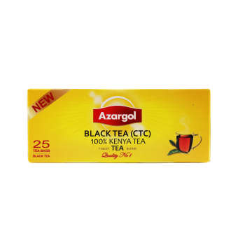 چای سیاه کیسه ای آذرگل مدل سی تی سی کنیا - بسته 25 عددی