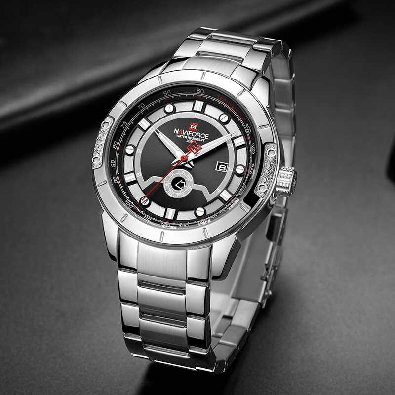 ساعت خرید اینترنتی ساعتمردانه نیوی فورس کد NF9166M -S-B