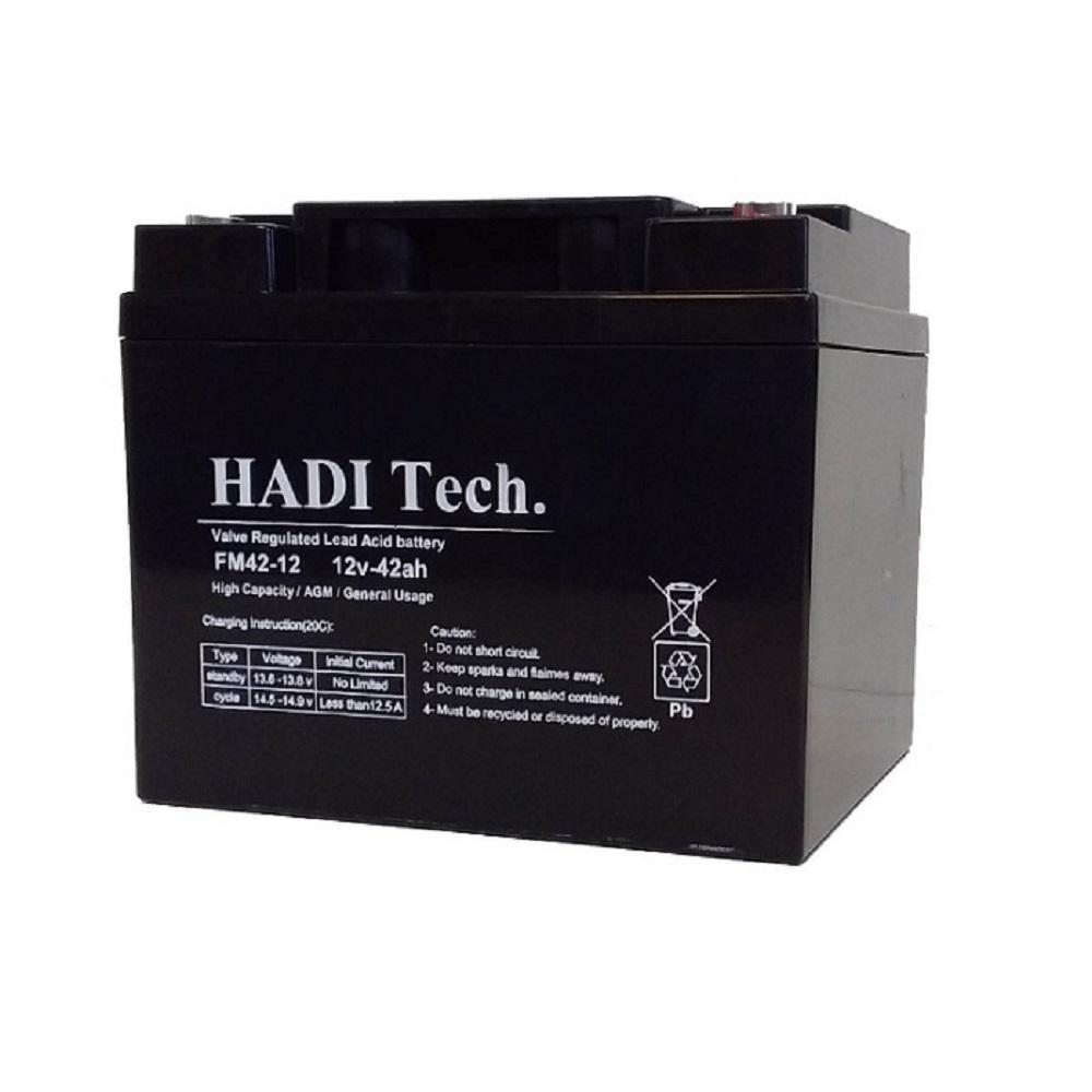 باتری یو پی اس 12ولت ۴۲ آمپر ساعت هادیتک مدل FM12V42