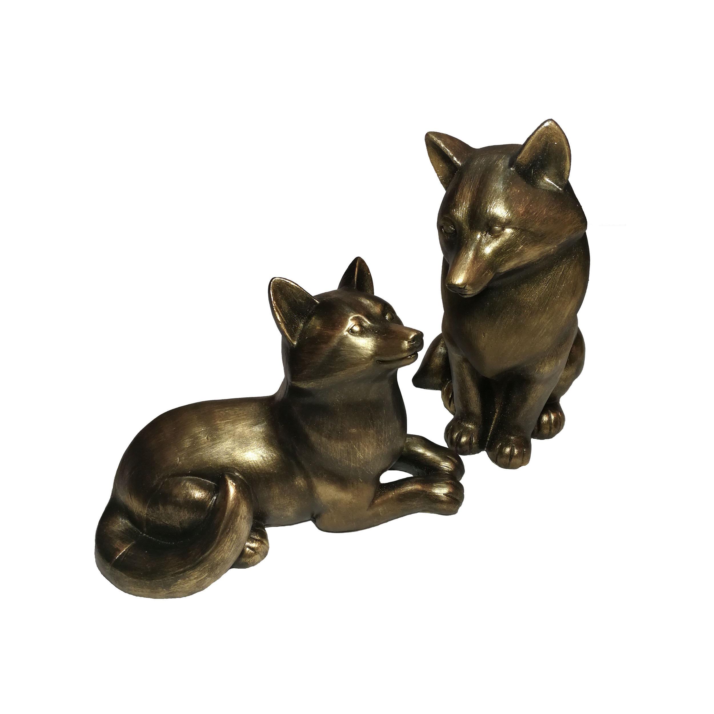مجسمه طرح روباه مدل fox-110 مجموعه دو عددی