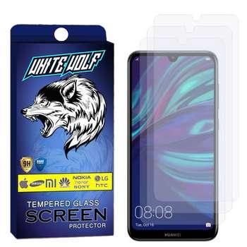 محافظ صفحه نمایش وایت ولف مدل WGS مناسب برای گوشی موبایل هوآوی Y7 Pro بسته 3 عددی