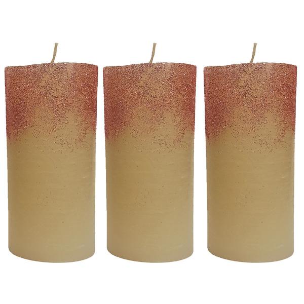 شمع طرح استوانه کد 52 بسته 3 عددی
