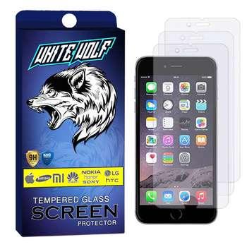 محافظ صفحه نمایش وایت ولف مدل WGS مناسب برای گوشی موبایل اپل Iphone 7 بسته 3 عددی