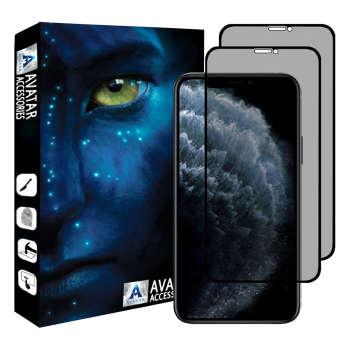محافظ صفحه نمایش حریم شخصی آواتار مدل GPi11PM-2 مناسب برای گوشی موبایل اپل iphone 11 PRO MAX بسته 2 عددی