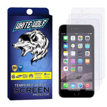 محافظ صفحه نمایش وایت ولف مدل WGS مناسب برای گوشی موبایل اپل Iphone 7 Plus بسته 3 عددی