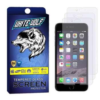 محافظ صفحه نمایش وایت ولف مدل WGS مناسب برای گوشی موبایل اپل Iphone 8 Plus بسته 3 عددی