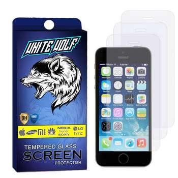 محافظ صفحه نمایش وایت ولف مدل WGS مناسب برای گوشی موبایل اپل Iphone  SE بسته 3 عددی