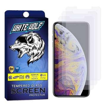 محافظ صفحه نمایش وایت ولف مدل WGS مناسب برای گوشی موبایل اپل Iphone X بسته 3 عددی