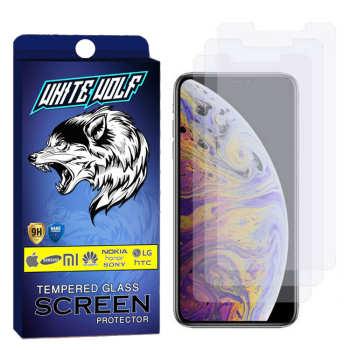 محافظ صفحه نمایش وایت ولف مدل WGS مناسب برای گوشی موبایل اپل Iphone XS Max بسته 3 عددی
