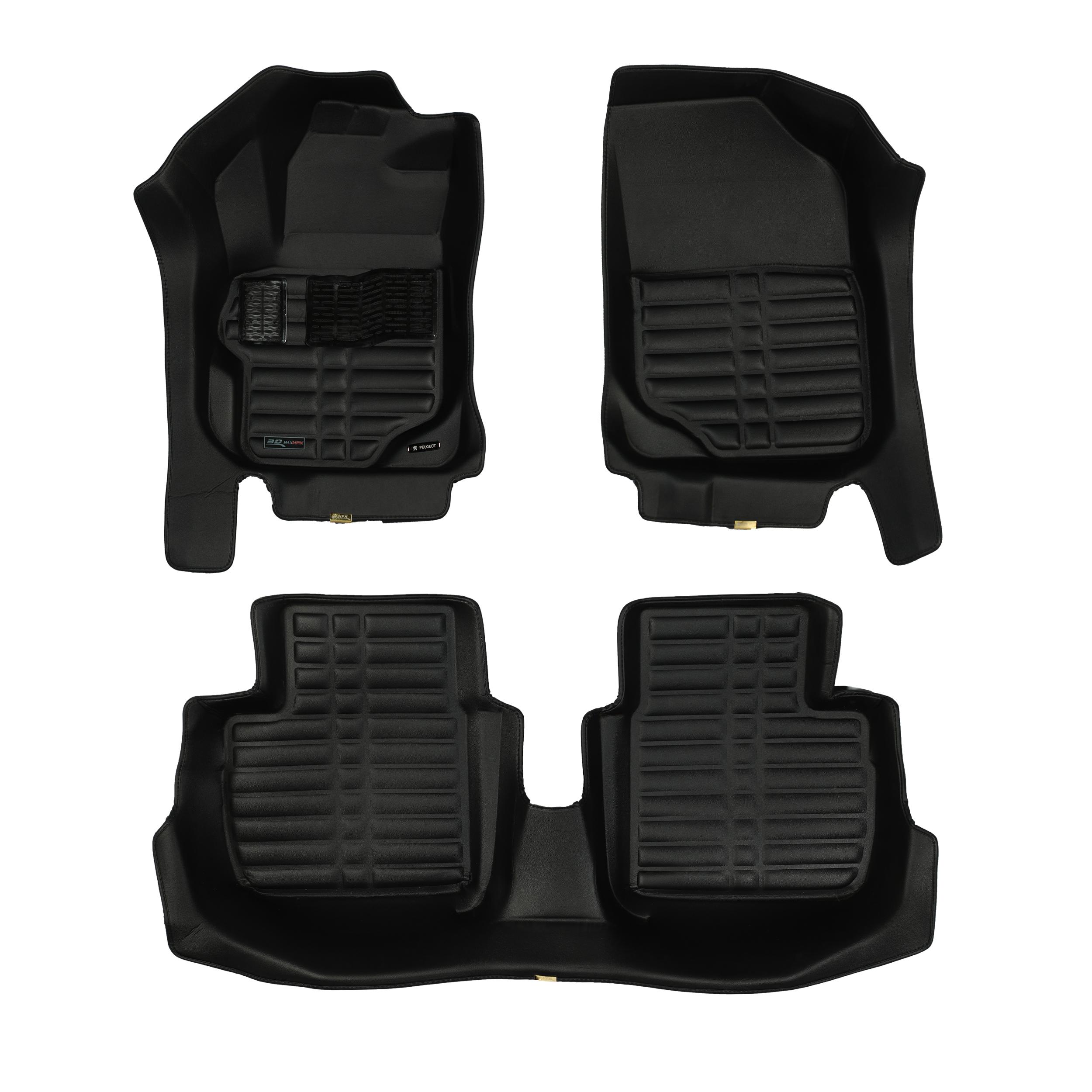 کفپوش سه بعدی خودرو تری دی مکس اچ اف کی مدل HS110149 مناسب برای پژو 301