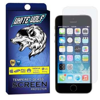 محافظ صفحه نمایش وایت ولف مدل WGS مناسب برای گوشی موبایل اپل Iphone 5S