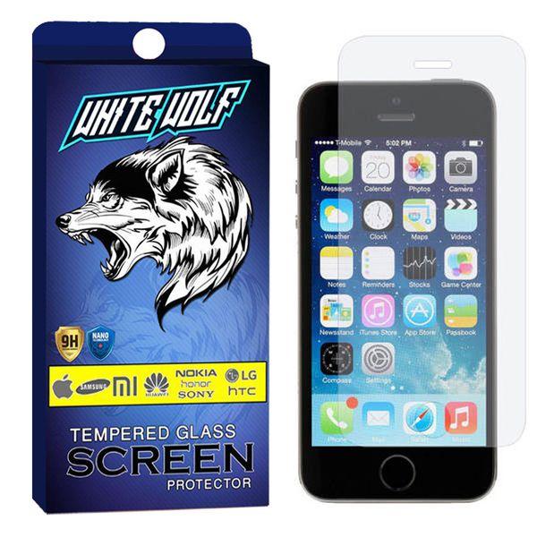 محافظ صفحه نمایش وایت ولف مدل WGS مناسب برای گوشی موبایل اپل Iphone SE