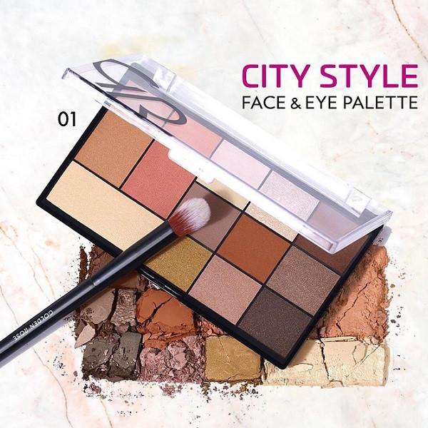 پالت سایه چشم و هایلایتر گلدن رز مدل City Style
