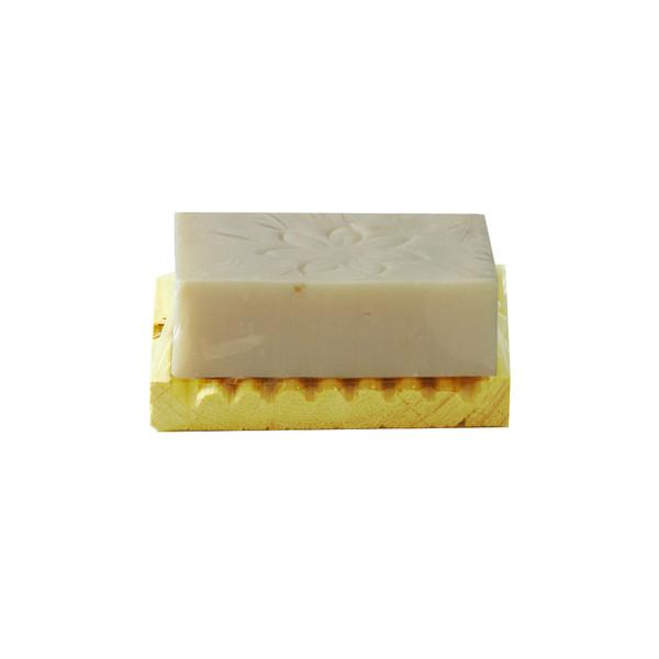 صابون شستشو روزرین مدل سفید آب و گلاب  وزن 70 گرم به همراه جاصابونی
