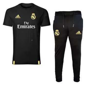 ست تیشرت و شلوار ورزشی مردانه طرح رئال مادرید کد 3456