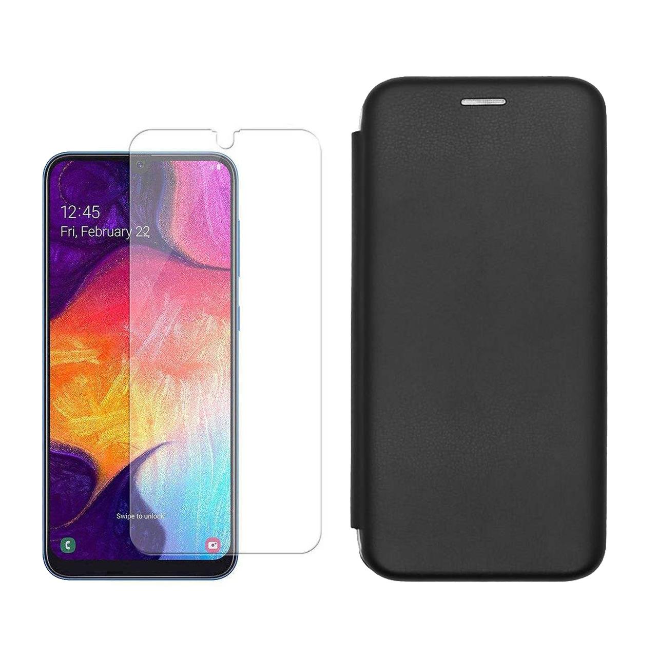 کیف کلاسوری مسیر مدل MMGNT- MGMJ-1 مناسب برای گوشی موبایل سامسونگ Galaxy A50 به همراه محافظ صفحه نمایش